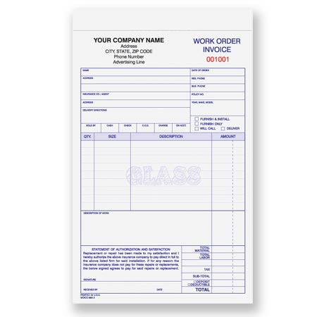 Woicc Glass Work OrderInvoice