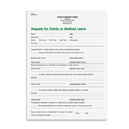 HR367 FamilyMedical Leave Request – Medical Leave Form