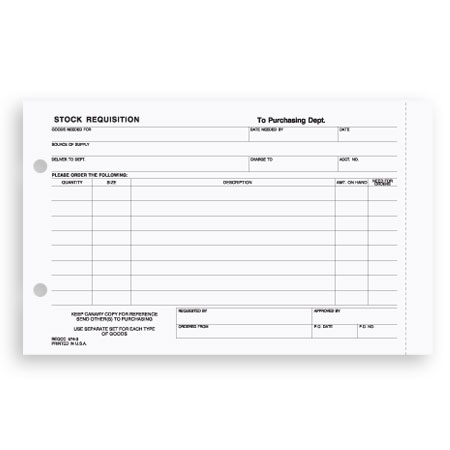 Reqcc Stock Requisition Form