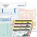 manual forms, invoices, statements, purchase order