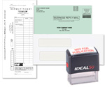 Deposit Slips, Self Inking Stamps, Envelopes