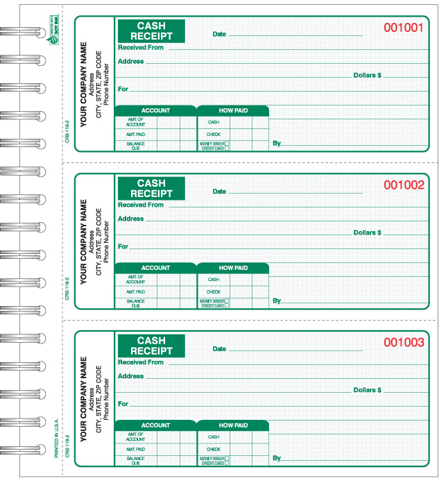 Crb 118 wire bound cash receipt book thecheapjerseys Image collections