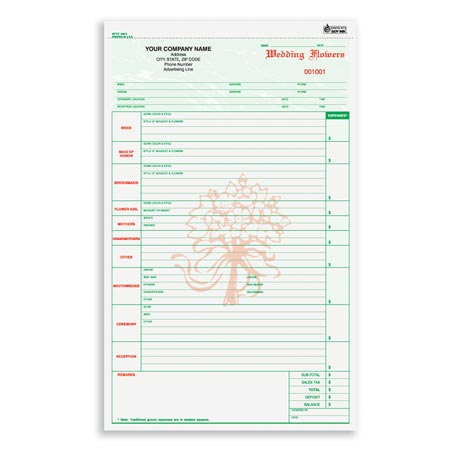 wfcc 648 wedding flower order form. Black Bedroom Furniture Sets. Home Design Ideas