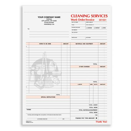CWICC Cleaning Services Work Order - Cleaning service work order template