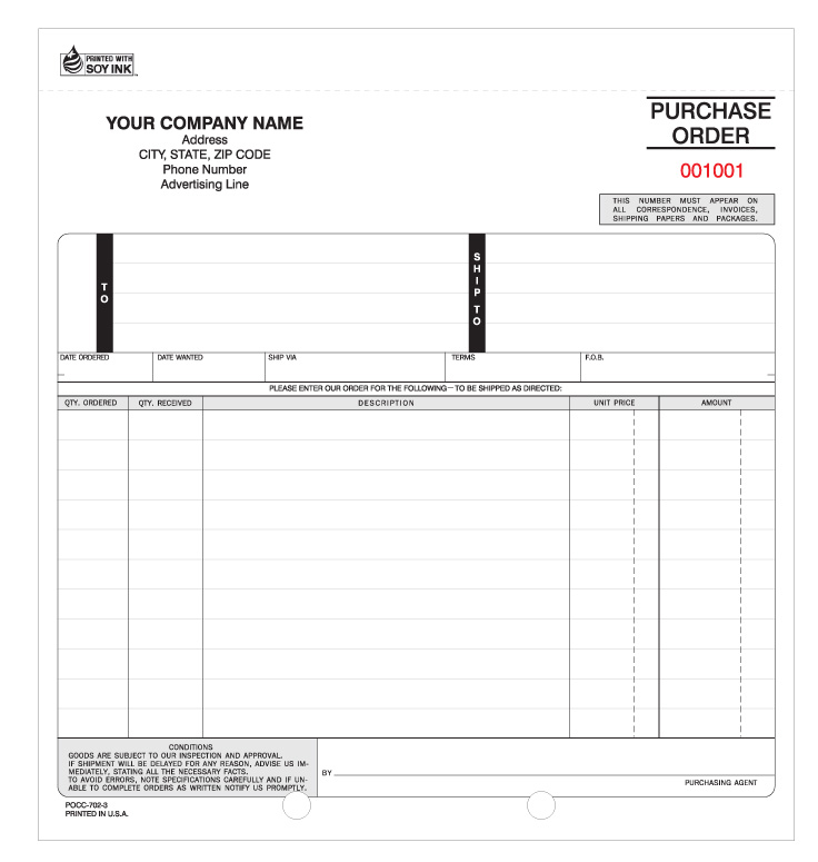 POCC-702, Snap-a-Part Purchase Order (Carbonless)