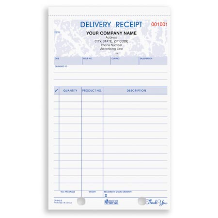 PCS Business Forms  Delivery Receipt Form