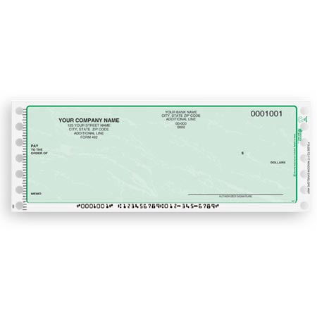 CC157, Continuous and Dot Matrix Multipurpose Check