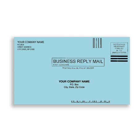 ENV-9815, #61/4 Envelopes - Blue