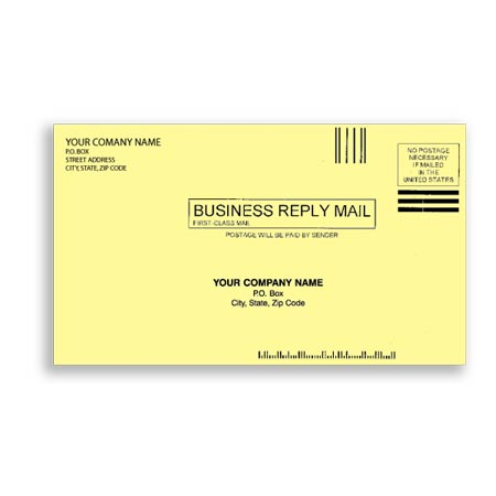 ENV-9819, #61/4 Envelopes - Canary