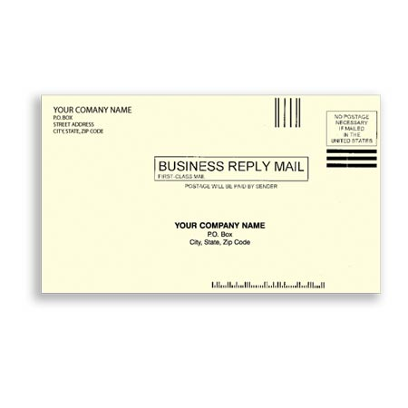 ENV-9820, #61/4 Envelopes - Creme