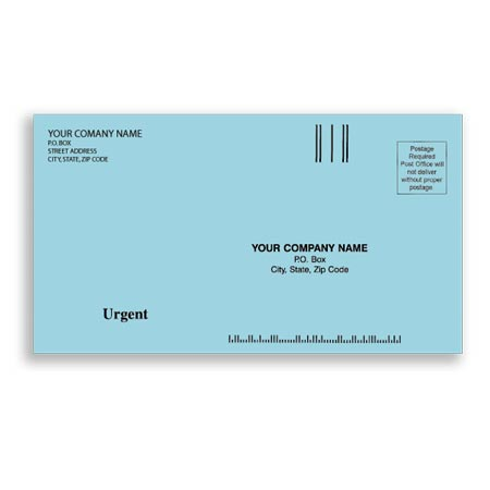 ENV-9825, #63/4 Envelopes - Blue