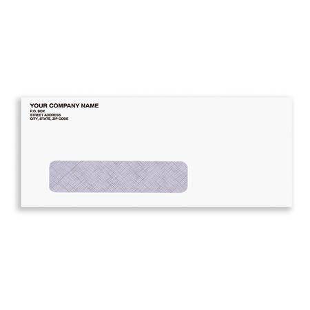 ENV-9901, #10 Envelope w/ Secruity Window