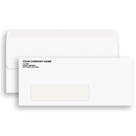ENV-9918, #10 Envelope Single Window - Self Sealing