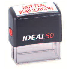 Ideal 50 Self Inking Stamp - Black Ink