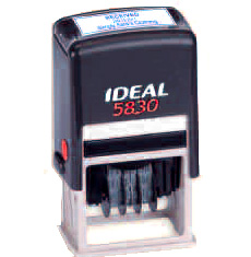 "Ideal 5830 Self Inking Date Stamp - Date Stamp ""Faxed By"""