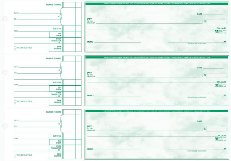 Manual/Paper 3-To-A-Page General Expense Checks